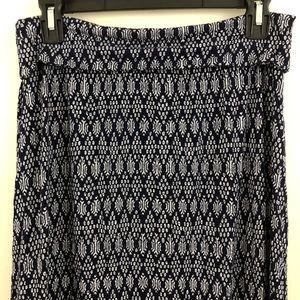 Max Studio Navy Long Skirt
